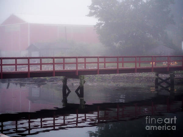 Foggy Morning At The Bridge Poster
