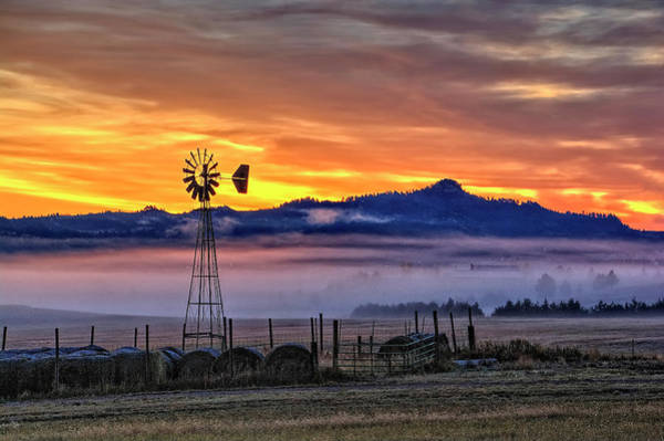 Foggy Spearfish Sunrise Poster