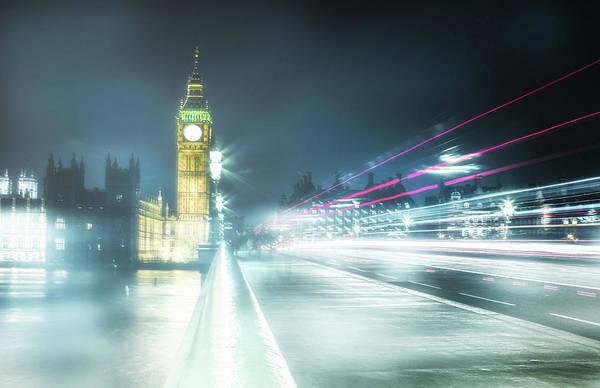Foggy Westminster Bridge Poster