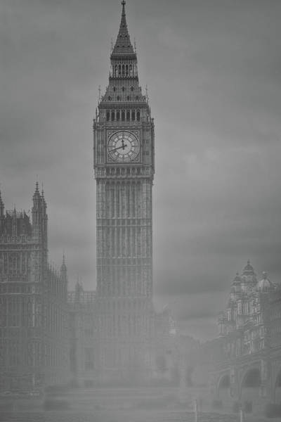 Foggy Westminster Poster