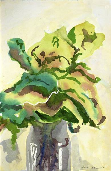 Foliage In Vase Poster