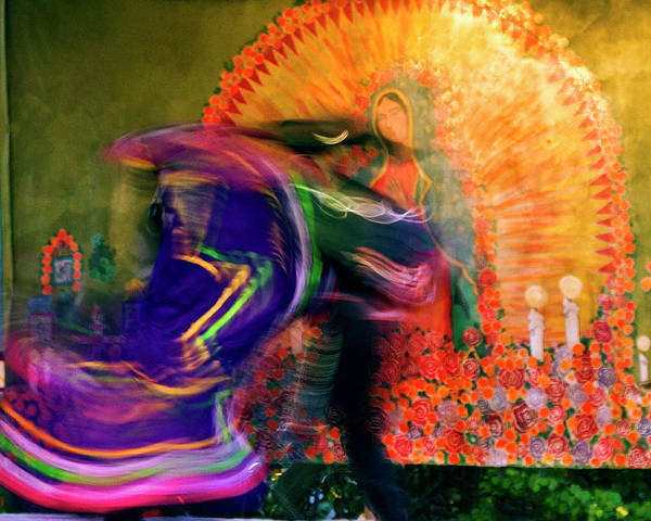 Poster featuring the photograph Folklorico Abstract Mexican Dancers by Gigi Ebert