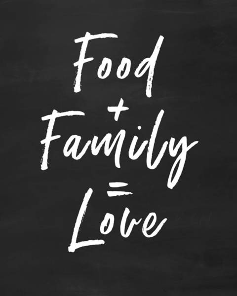 Food Family Love- Art By Linda Woods Poster