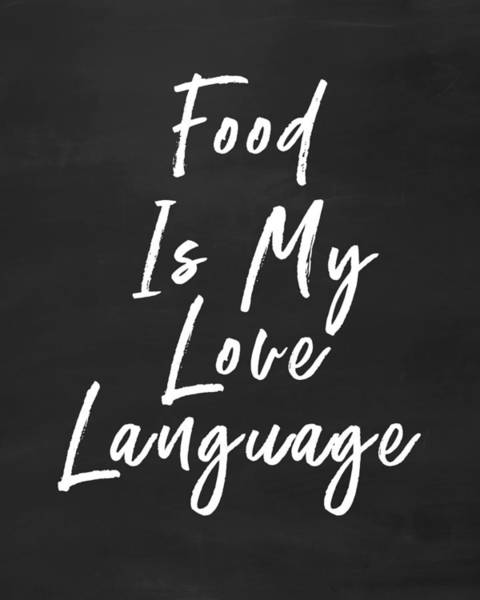 Food Love Language- Art By Linda Woods Poster