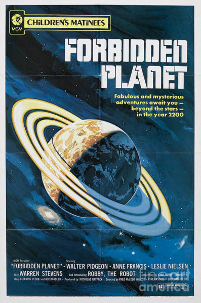 Forbidden Planet Classic Movie Poster Poster