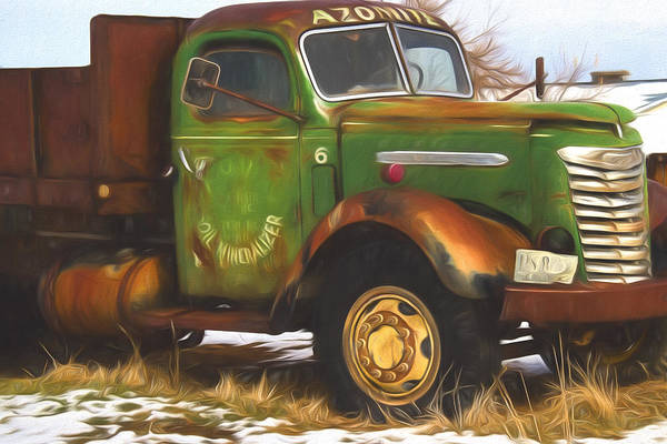 Ford Farm Truck Painterly Impressions Poster