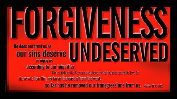 Forgiveness Undeserved Poster