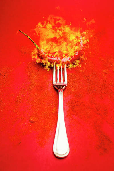 Forking Hot Food Poster