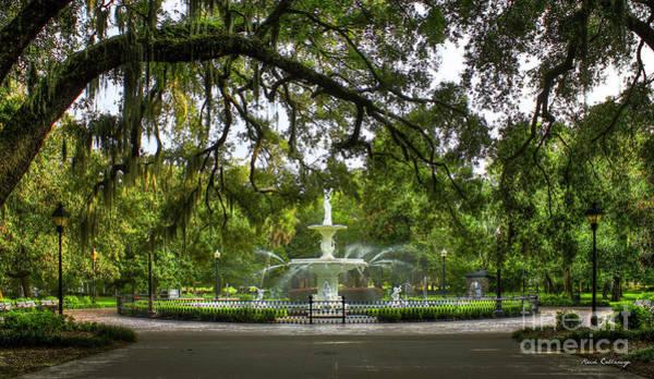 Forsyth Park Fountain Historic Savannah Georgia Poster