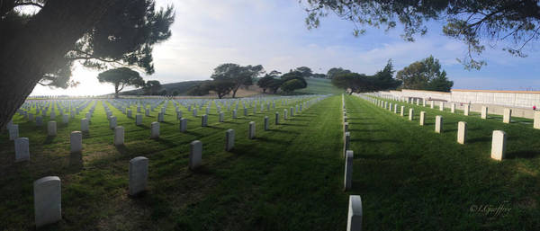 Poster featuring the photograph Fort Rosecrans National Cemetery by Lynn Geoffroy