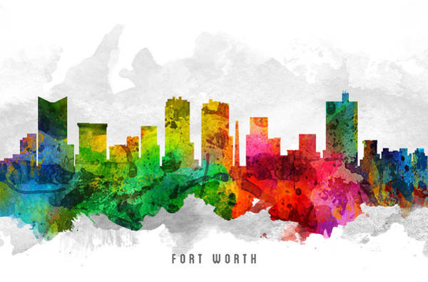 Fort Worth Texas Cityscape 12 Poster