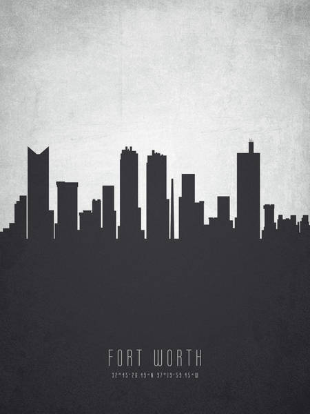 Fort Worth Texas Cityscape 19 Poster