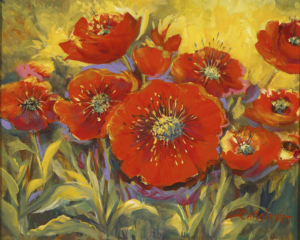 Fortuitous Poppies Poster