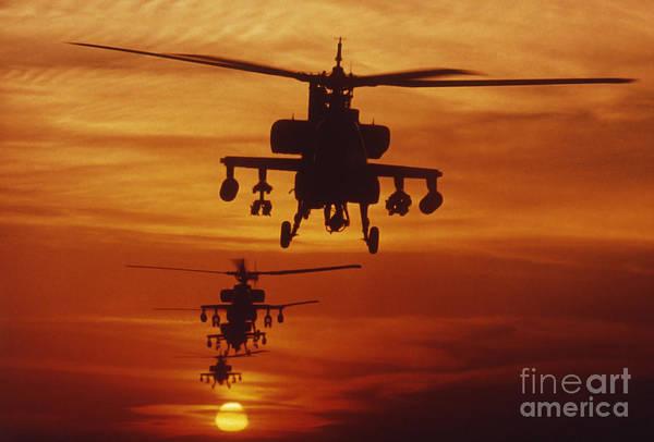 Four Ah-64 Apache Anti-armor Poster