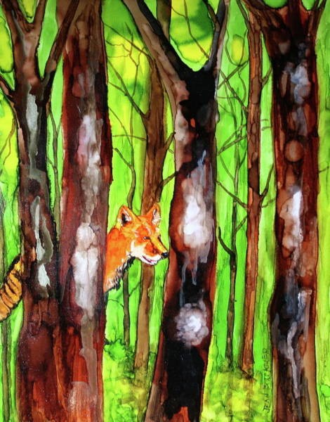 Poster featuring the painting Foxy Fox by Jean Blackmer