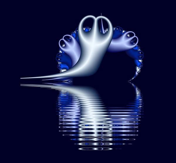 Fractal Peeble Ghosts Poster