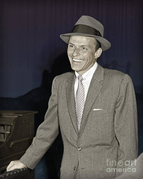 Frank Sinatra On Set Poster