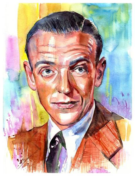 Fred Astaire Painting Poster