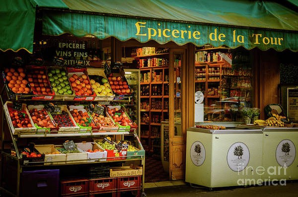 French Groceries Poster