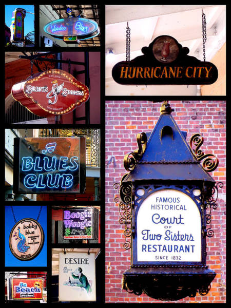French Quarter Sign Collage Poster