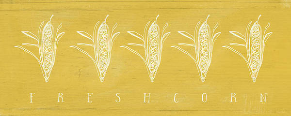 Fresh Corn- Art By Linda Woods Poster