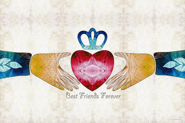 Friendship Art - Best Friends Forever - Sharon Cummings Poster