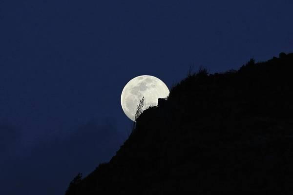 Full Moon Behind Makapu'u Poster