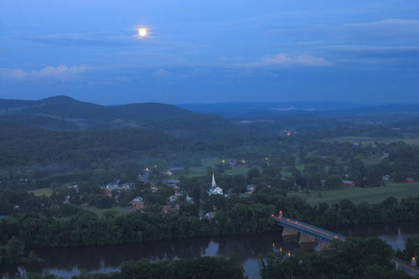 Full Moon Over The Connecticut River Valley Poster