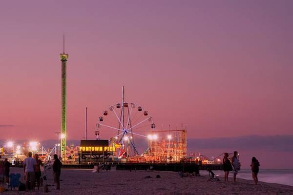 Funtown Pier At Sunset IIi - Jersey Shore Poster