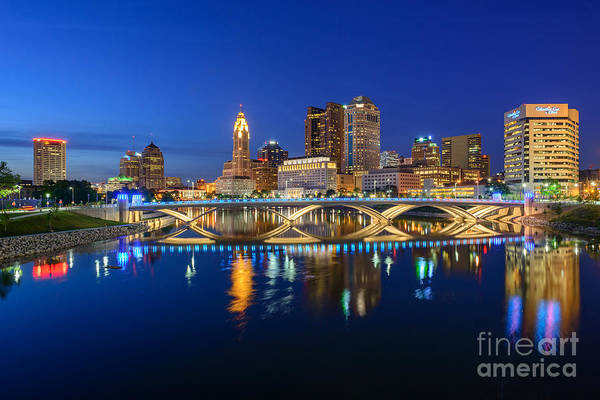 Fx2l531 Columbus Ohio Skyline Photo Poster