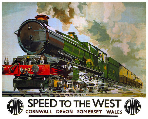 G W Railroad Speed To The West  1939 Poster