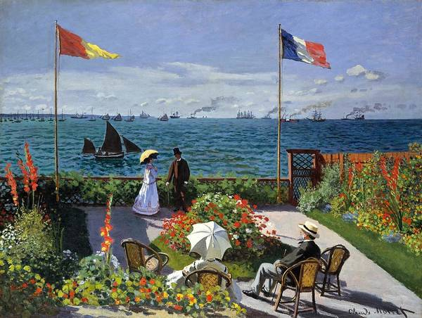 Poster featuring the painting Garden At Sainte Adresse By Claude Monet by Claude Monet