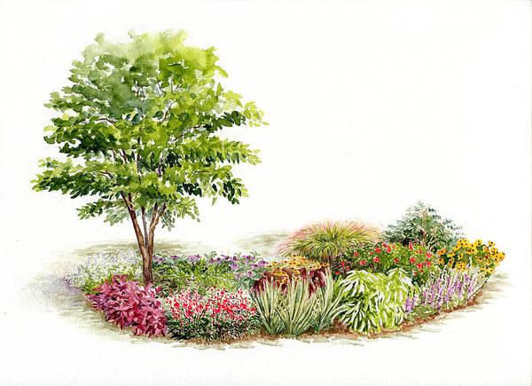Garden Fresh Watercolor Painting Poster