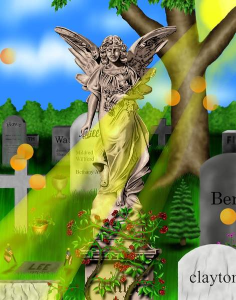 Garden Landscape IIi A - Where The Dead Sleep Poster
