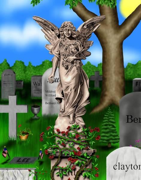 Garden Landscape IIi B - Where The Dead Sleep Poster