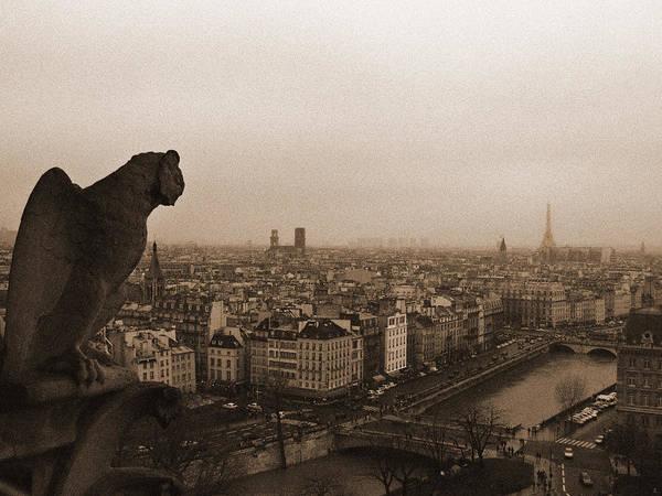 Gargoyle Over Paris Poster