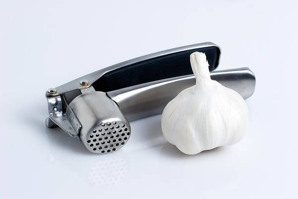 Garlic Press With Garlic Poster