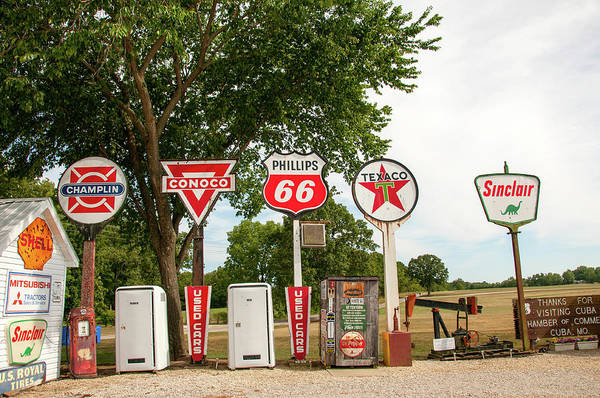 Gas Signage Poster