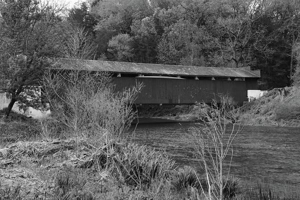 Geiger Covered Bridge B/w Poster