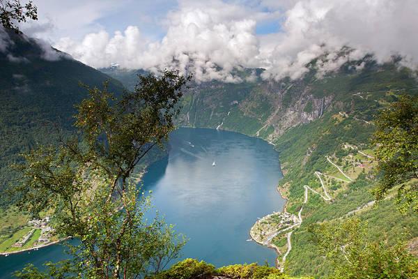 Geirangerfjord With Birch Poster