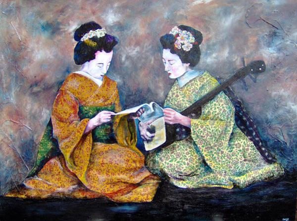Geisha Music Lesson Poster