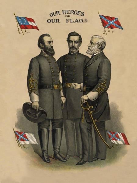Generals Jackson Beauregard And Lee Poster