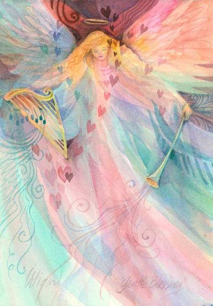 Poster featuring the painting Gentle Blessings by Carolyn Utigard Thomas