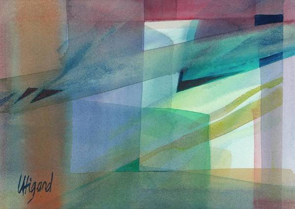 Poster featuring the painting Geometric Dimensions by Carolyn Utigard Thomas