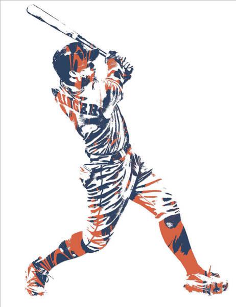 George Springer Houston Astros Pixel Art 11 Poster
