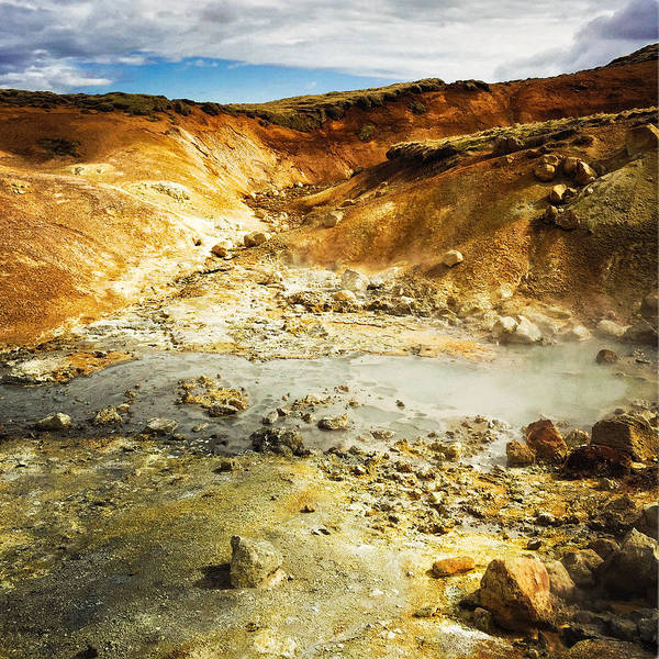 Geothermal Area In Reykjanes Iceland Poster