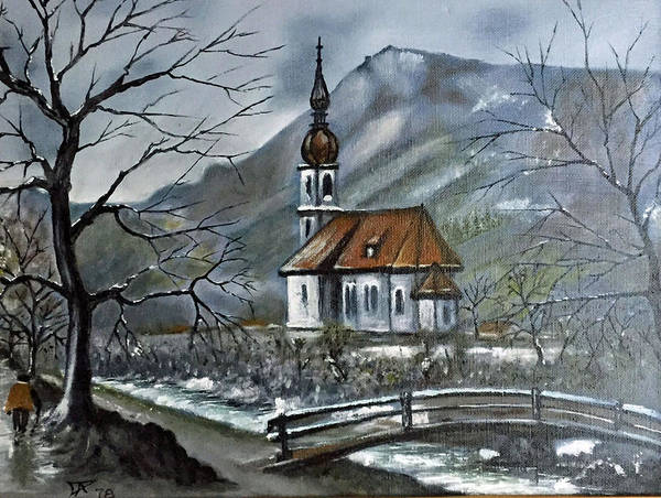German Church At Ramsau  Poster