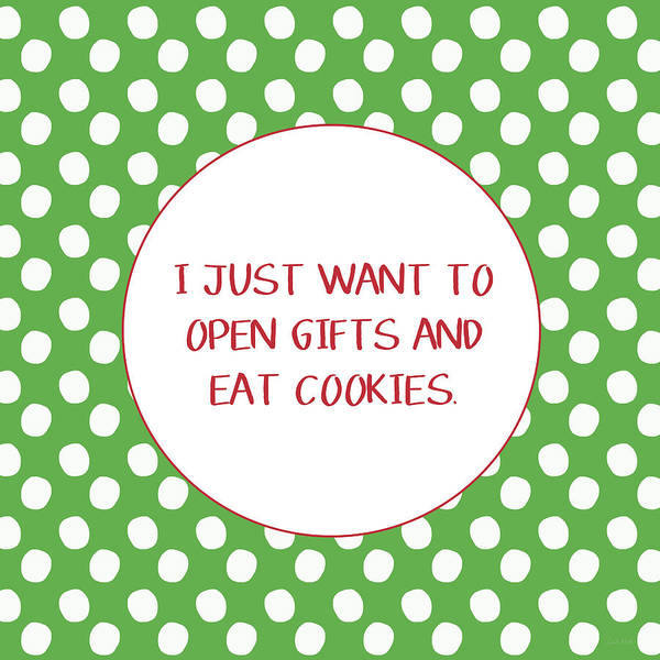 Gifts And Cookies- Art By Linda Woods Poster
