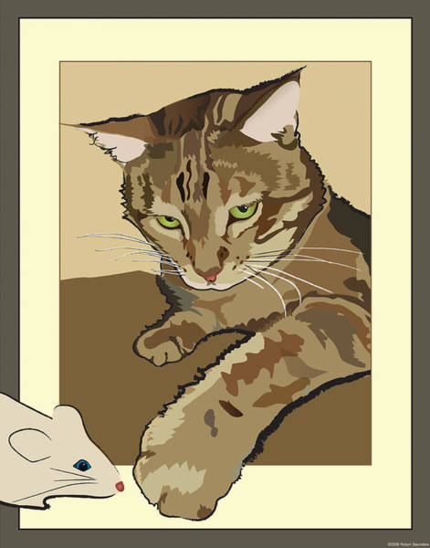 Ginger Peach Bengal Kitty Poster