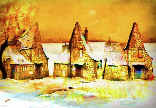 Gingerbread Cottages Poster